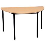 Table de réunion Niceday Demi cercle 1 200 x 600 x 750 mm Imitation hêtre