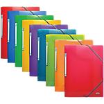 Chemise 3 rabats à élastique ELBA 400006522 A4 Bleu, vert, orange, violet, rouge, jaune 3 Unités