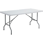 Table pliante 1 520 x 760 x 740 mm Gris