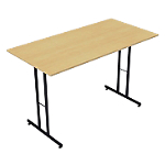 Table pliante rectangulaire 1 200 x 600 x 740 mm Imitation Hêtre
