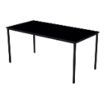 Table multi usages 160 (l) x 80 (P) x 74 (H) cm Noir