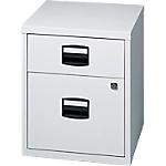2 tiroirs dont 1 pour dossiers suspendus   Bisley   gris