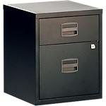 2 tiroirs dont 1 pour dossiers suspendus   Bisley   noir