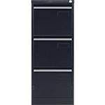Classeur à 3 tiroirs monobloc Bisley 3 Noir 413 x 622 x 1016 mm