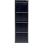 Classeur à 4 tiroirs monobloc Bisley 4 Noir 413 x 622 x 1321 mm