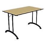 Table de réunion pliante Mobilis EVO 1200 x 700 x 740 mm Aluminium, imitation pommier