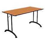 Table de réunion rectangulaire pliante Table de réunion 1400 x 700 x 740 mm Noir, imitation poirier