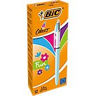 Stylo bille rétractable BIC 4 couleurs Fun 0.4 mm Assortiment