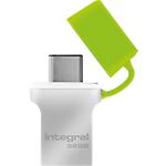Clé USB OTG Integral Fusion USB 3.0   Type C 32 Go Vert, Argenté