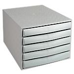 Module de classement Office Depot 5 tiroirs 5 28,4 x 38,7 x 21,8 cm Gris