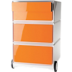 Caisson mobile 4 Tiroirs Paperflow EasyBox 390 x 436 x 642 mm Orange