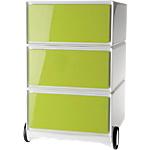 Caisson mobile 3 tiroirs Paperflow EasyBox 39 (L) x 43,6 (l) x 64,2 (H) cm Vert
