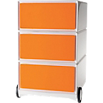 Caisson mobile 3 Tiroirs Paperflow EasyBox 390 x 436 x 642 mm Orange