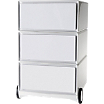 Caisson mobile 3 tiroirs Paperflow EasyBox 39 (L) x 43,6 (l) x 64,2 (H) cm Blanc