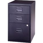 3 tiroirs dont 1 pour dossiers suspendus   Bisley   noir