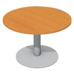 Table ronde Cancun 720 mm Imitation poirier, gris aluminium