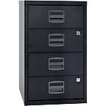 4 tiroirs de rangement   Bisley   noir