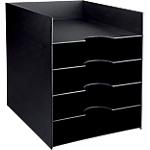 Trieur monobloc 5 cases Paperflow 26 (l) x 32,5 (l) x 32 (H) cm Noir