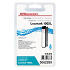 Cartouche jet d'encre Office Depot Compatible Lexmark 100XL Cyan