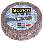Adhésif décoratif Scotch Expression Multicolore pailleté 15 mm x 5 m