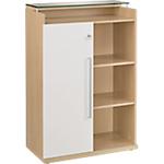 Armoire mi haute Gautier Office Sliver 80 (L) x 45 (P) x 125 (H) cm Imitation chêne, blanc