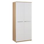 Armoire haute Gautier Office Sliver 80 (L) x 45 (P) x 188 (H) cm Imitation chêne, blanc