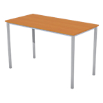 Table multi usages 1 200 x 600 x 740 mm Aluminium, imitation poirier