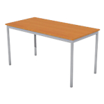 Table multi usages 140 (l) x 70 (P) x 74 (H) cm Aluminium, imitation poirier
