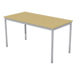 Table multi usages 1 400 x 700 x 740 mm Aluminium, imitation pommier