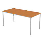 Table multi usages 1 600 x 800 x 740 mm Aluminium, imitation poirier