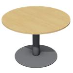Table de réunion Optimal 1100 x 1100 x 720 mm Imitation hêtre, anthracite