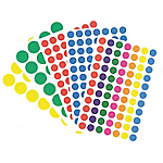 Pastilles adhésives APLI Apli Assortiment 140 étiquettes