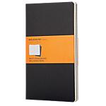 Cahier réglure 5 x 5   Moleskine   9 x 14 cm     couverture noire