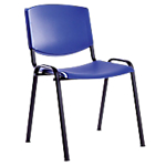 Chaise empilable   Lunch   bleu