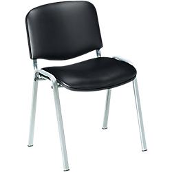 Chaise En Vinyle Avec Pietement Aluminium