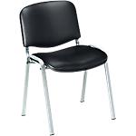 Chaise en vinyle avec piètement aluminium   Meeting   noir