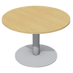 Table de réunion Cancun 720 mm Imitation hêtre, gris aluminium