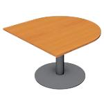 Module de table de réunion Optimal 1100 x 1100 x 720 mm Imitation poirier, anthracite