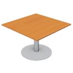 Module de table de réunion Optimal 1100 x 1100 x 720 mm Imitation poirier, gris aluminium