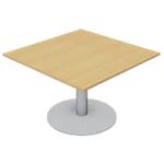 Module de table de réunion Optimal 1100 x 1100 x 720 mm Imitation hêtre