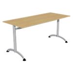 Table de réunion 1600 x 700 x 740 mm Imitation Poirier