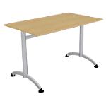 Table de réunion 1200 x 700 x 740 mm Imitation Poirier