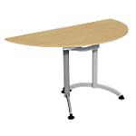 Table de réunion 1400 x 700 x 740 mm Imitation Poirier