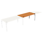 Bureau droit juxtaposable 4You Imitation poirier, gris aluminium 1 600 x 800 x 720 mm