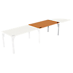 Bureau droit juxtaposable 4You Imitation poirier, gris aluminium 1 400 x 800 x 720 mm