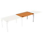 Bureau droit juxtaposable 4You Imitation poirier, gris aluminium 1 200 x 800 x 720 mm