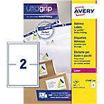 Étiquettes d'adresses Avery L7168 100 A4 Blanc 199,6 x 43,5 mm 100 Feuilles de 2 Étiquettes