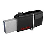 Clé USB OTG SanDisk Ultra Dual 16 Go Noir
