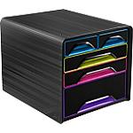 Module à tiroirs CEP Smoove 27,1 (H) x 28,8 (l) x 36 (P) cm Noir, Multicolor