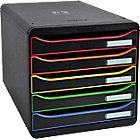 Module de classement Exacompta Big Box Plus Classic 5 27,1 (H) x 27,8 (l) x 34,7 (P) cm Noir Arlequin